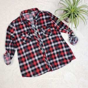 Tops - Urban Collection Red and Black Checkered flannel